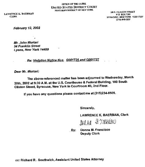 Adjournment Request Letter Exle Federal Civil Rights For Parents Syracuse