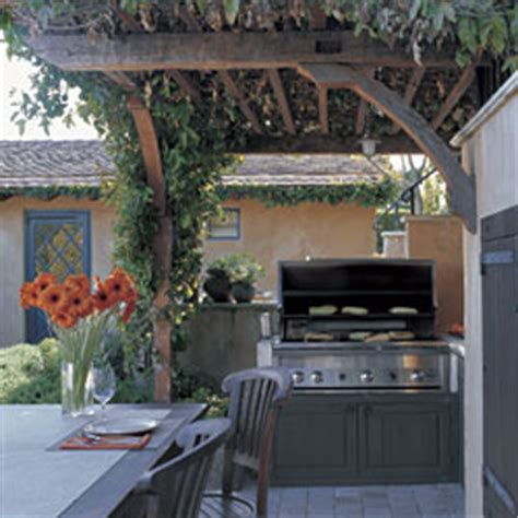 outdoor kitchen against house planning an outdoor kitchen homebuilding