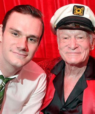 Hugh Hefner Shares His Fashion Tips by Jude Diddy And S Sons Pose For D G
