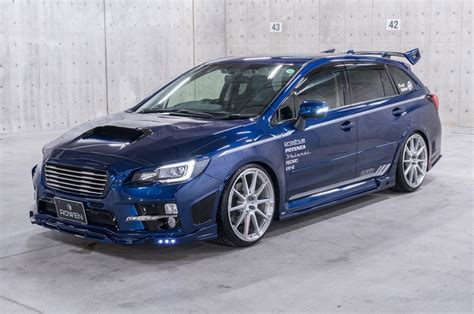 subaru tuner subaru levorg shows its tuning side with rowen kit