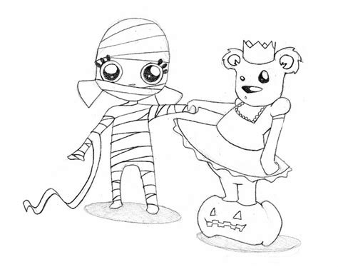 imagenes momias halloween dibujos para colorear el oso y la momia de halloween es