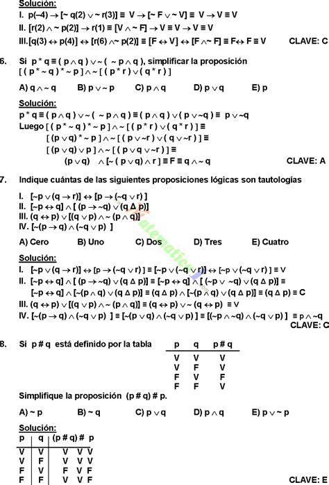 EJERCICIOS DE LOGICA PROPOSICIONAL RESUELTOS PDF