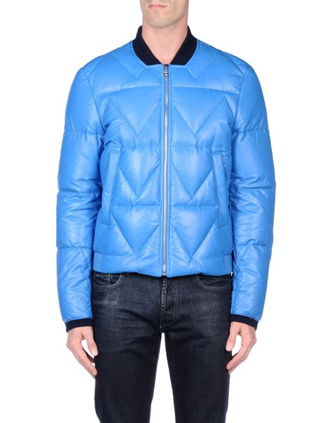 lyst kenzo jacket in blue for