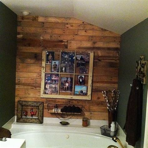 bathroom picture frame ideas hometalk pallet wall in bathroom with old window as