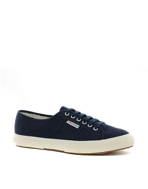 superga shoes for timberland superga cobinu sneakers in blue for lyst