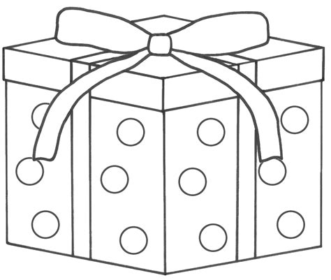Free Coloring Pages Of Color Gift Box Gifts Coloring Pages