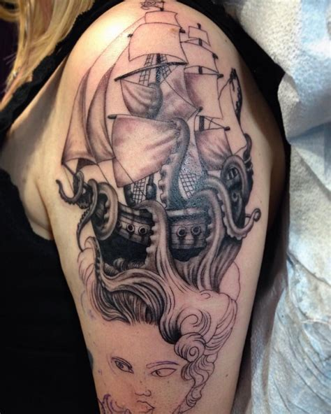 66 pirate ship tattoos ideas