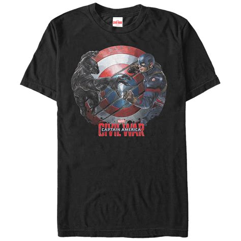 T641 Shirt New Captain America 09 marvel captain america civil war black panther mens