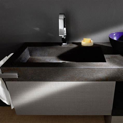 mobili bagno con lavabo integrato mobile da bagno sospeso con lavabo integrato effetto corten