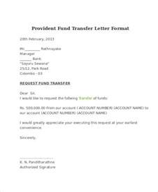 Letter Format For Withdrawal Of Provident Fund Fund Transfer Letter Template 9 Free Word Pdf Format Free Premium Templates