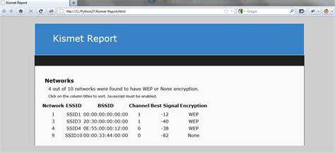 Python Html Report Template Kismet Csv Log Report Generator Smeegesec