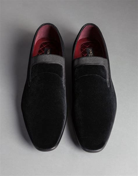 tuxedo slippers shoes dolce gabbana elastic velvet tuxedo siena slippers in