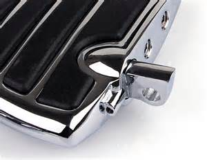 repose pieds wing mini marchepieds chrome pour harley