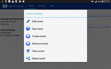 reminders android talking calendar reminder app android apps on play