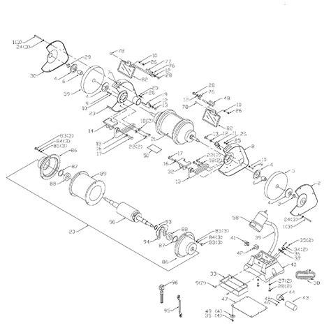 delta bench grinder parts buy delta 23 725 type 1 8 inch slow speed bench