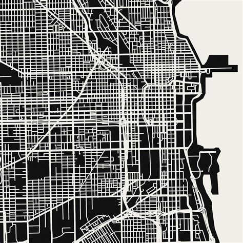 chicago map black and white chicago map print mr city printing touch of modern