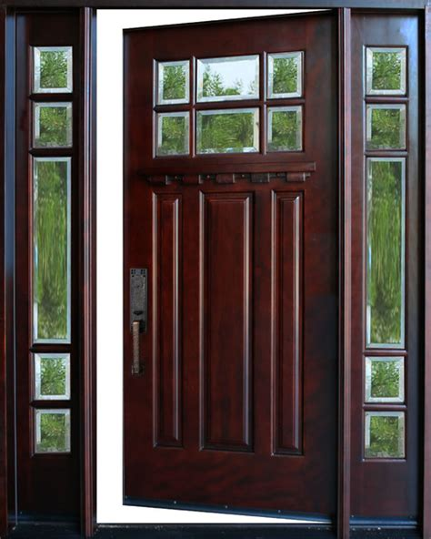36 Inch Front Door Exterior Front Entry Wood Door M36 1d 2sl 12 Quot 36 Quot X80 Quot Right Swing In Front Doors By
