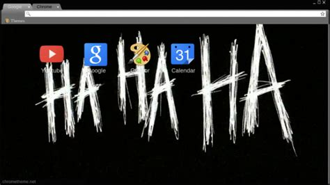 Joker Haha font Chrome Theme   ThemeBeta