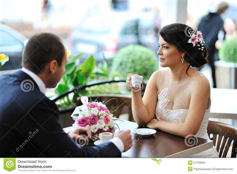 New Find The Brides Cafe by And Groom Coffee At An Outdoor Cafe Royalty