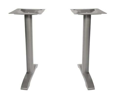 commercial outdoor table end bases set of two supports