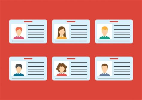 Id Cards Template Freepik by Id Badge Vectors Photos And Psd Files Free