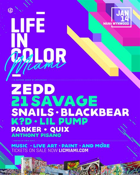 in color lineup in color lineup reveals 2018 lineup with best of edm