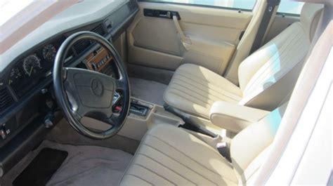 classic 1992 mercedes benz 190e 2 6 sedan 4 door 2 6l white exterior with tan interior for sale