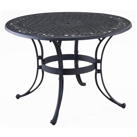Patio Dining Sets With Umbrella Included Outdoor Dining Table In Black 5554 3x
