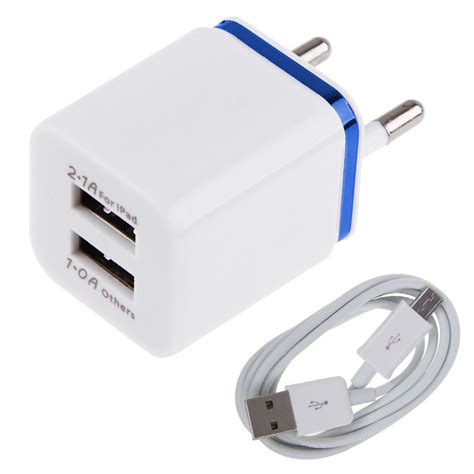 Home Charger Single Usb Port 1a Cliptec Gzu360 universal 3 1a dual usb port wall home travel ac charger adapter eu cable ebay
