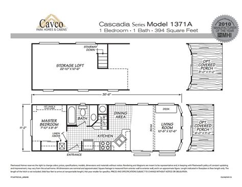 Breckenridge Park Model Floor Plans by Cavco Cascadia Park Models The Finest Quality Park