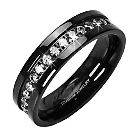black diamond jewelry white gold 187 solid titanium black