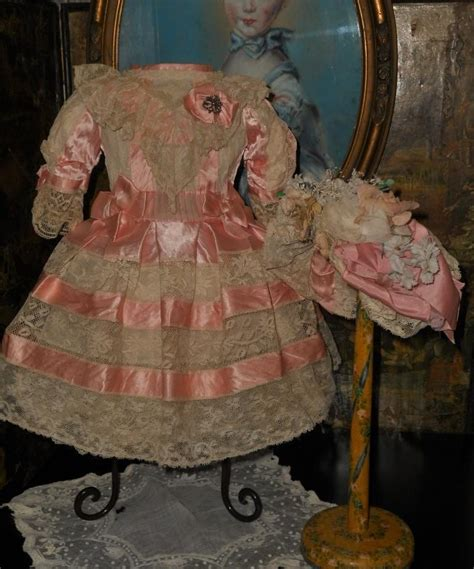 very beautiful in french very beautiful french bebe costume with bonnet pretty in pink from whendreamscometrue on