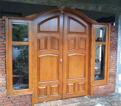 Pintu Jati Solid Kombinasi Kaca kusen pintu kupu tarung sing jati solid kusen pintu jendela