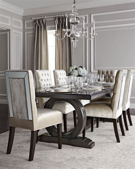mirrored dining room table 17 best ideas about trestle dining tables on