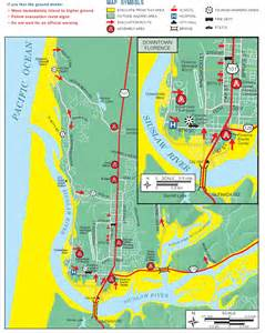 oregon tsunami evacuation maps florence area tsunami information west translator inc