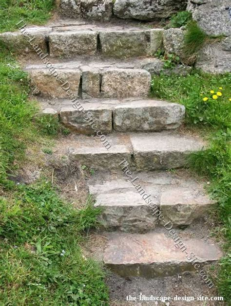 Rock Garden Steps Steps Outside