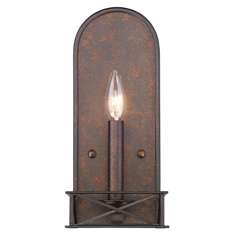 gateway lighting and fans golden lighting gateway 1 light fired bronze sconce 5815