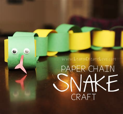 Paper Chain Craft - paper chain snake craft