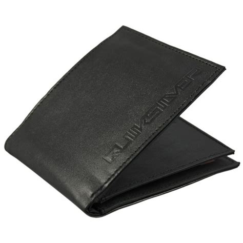 Quiksilver Ls58 Silveryellow Black Leather quiksilver fashion accessories reviews