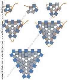 triangle peyote stitch beading technique beading tutorials
