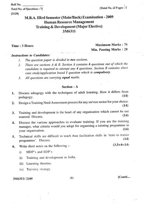 Mba Hrm Important Questions by Rajasthan Technical Politics Rtu M B A