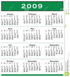 2009 calendar full year royalty free stock photography