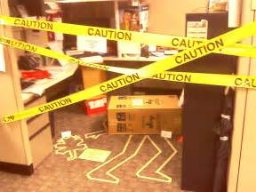 halloween themes for coworkers crime scene cubicle hilaroious would be great for a joke