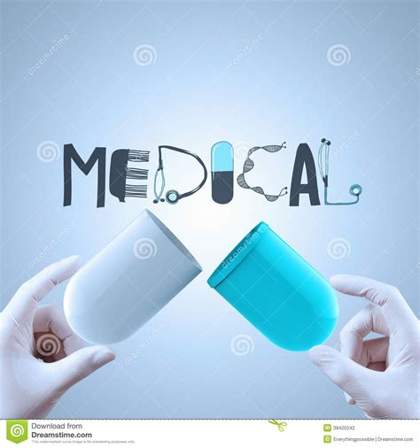 design concept graphic graphic design word medical as concept stock photo image