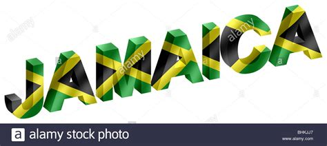 jamaican up letter jamaica 3d three dimensional lettering word with jamaican