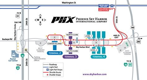 light rail to sky harbor phx airport map phx terminal map