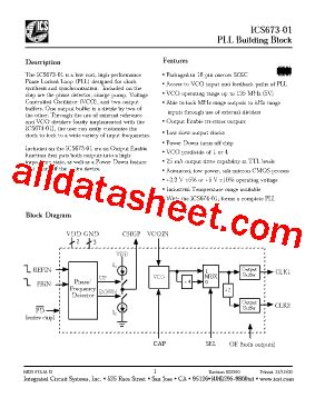 integrated circuit number lookup ics673 01 datasheet pdf integrated circuit systems