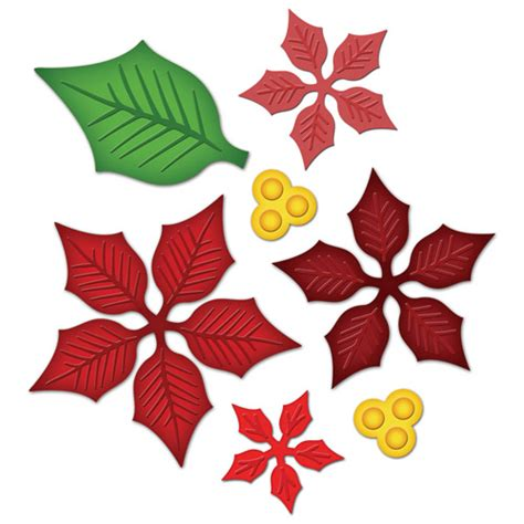 pattern for poinsettia leaf poinsettia graphic clipart best