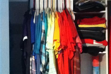 color coordinated closet diy