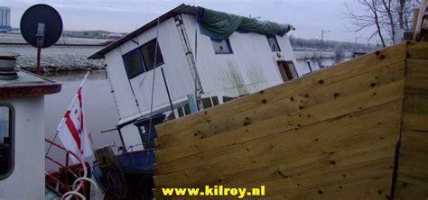 woonboot stabiliseren zaterdag 3 januari 2009 coevorden woonboot loopt vol